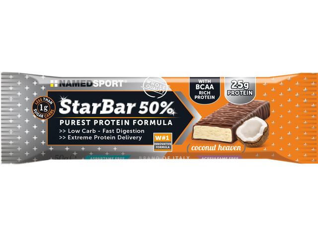 NAMEDSPORT StarBar 50% Proteiinipatukkapakkaus 24x50g, Coconut Heaven